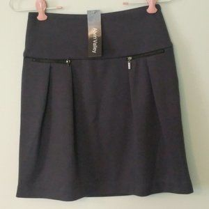 NWT ALVIN VALLEY GRAY ZIPPER POCKETS MINI SKIRT M